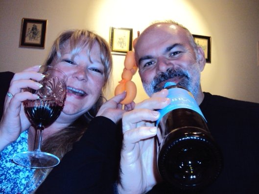 Jorge and I being silly as usual last week and on the wine!